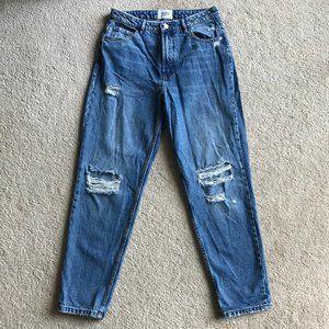 Zara High Rise Mom Jeans 28